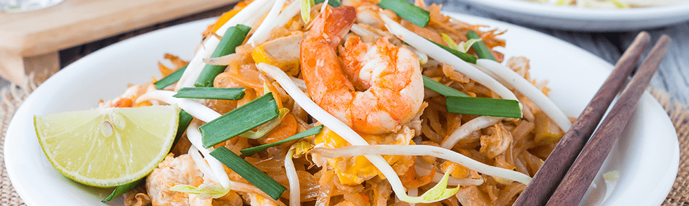 Fried flat rice noodles