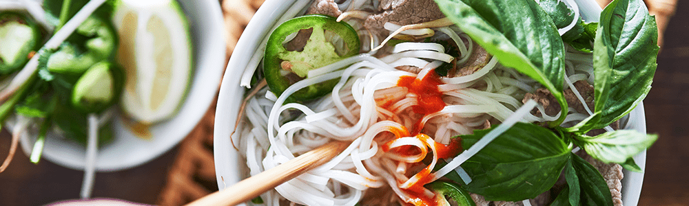 Rice noodle dishes