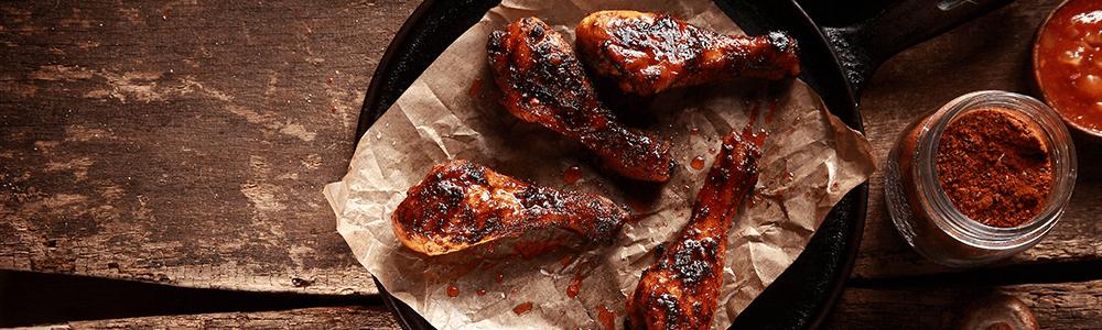 Homemade Barbecue Grilled Wings